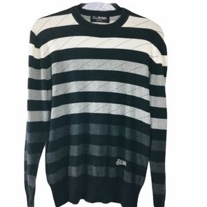 Billabong Black and Gray Striped Sweater